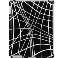 Black an white lines  iPad Case/Skin