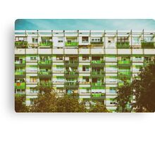 Communist Building Apartments Canvas Print