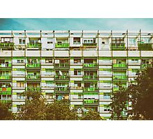 Communist Building Apartments Photographic Print
