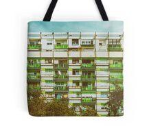 Communist Building Apartments Tote Bag