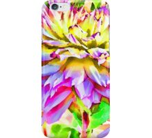 Dahlias In An Artistic Version iPhone Case/Skin