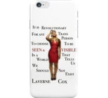 Laverne Cox iPhone Case/Skin