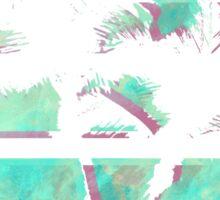 Vaporwave Palm Trees in the Sun - Blue Sticker