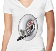 Sk8 triX Women's Fitted V-Neck T-Shirt
