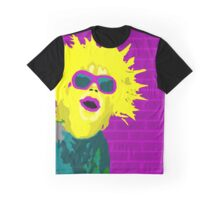Bright Yellow Punk Girl Graphic T-Shirt