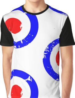 Distressed Mod Target Graphic T-Shirt