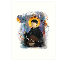 Saint Dominic Contemporary Catholic Art Art Print