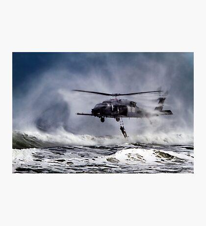 Rescue Chopper Photographic Print