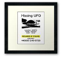 Missing UFO Framed Print