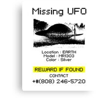 Missing UFO Canvas Print