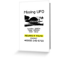 Missing UFO Greeting Card