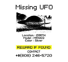 Missing UFO Photographic Print