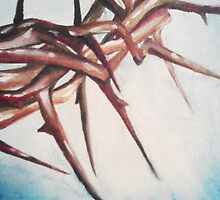 Crown of Thorns Painting by AmandaRuthArt