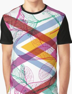 Leaves and triangle pattern Graphic T-Shirt