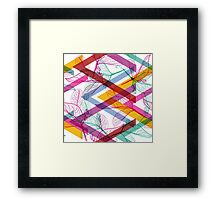 Leaves and triangle pattern Framed Print