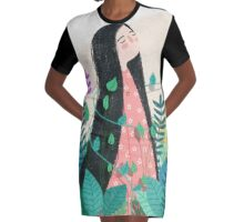 Grow with nature Graphic T-Shirt Dress