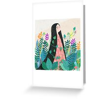 Grow with nature Greeting Card