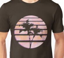 Vaporwave Palm Trees in the Sun - Orange Unisex T-Shirt