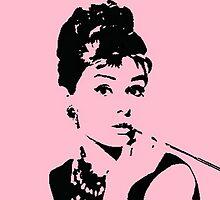 Pink Audrey Pop Art by rbx11