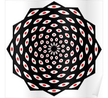 Dark Mandala Design Gifts and Clothing Poster