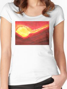 Wildfire original painting Women's Fitted Scoop T-Shirt