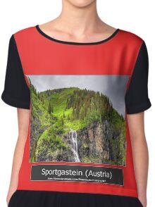 Summer trip to Bad Gastein, Austria Chiffon Top