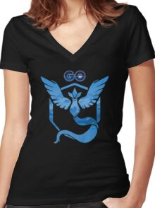 Pokemon Go: Team Mystic Women's Fitted V-Neck T-Shirt