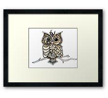 Steampunk Owl Framed Print
