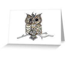 Steampunk Owl Greeting Card