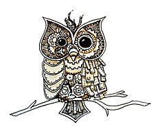 Steampunk Owl Photographic Print
