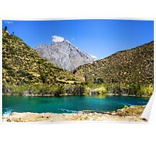 Waterscape in the Peruvian Andes. Photographed near Huancayo, Peru  Poster