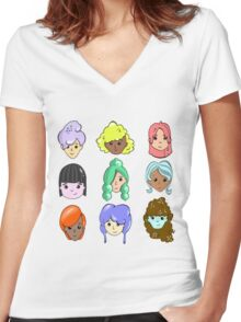 Hair Day Women's Fitted V-Neck T-Shirt
