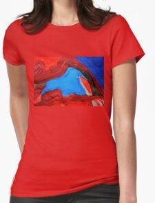 Arch Rock original painting Womens Fitted T-Shirt