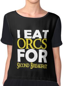 LOTR - I Eat Orcs for Second Breakfast Chiffon Top