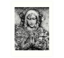Saint In Stone Art Print
