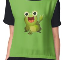 Thumbs Up Frog Chiffon Top