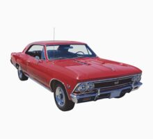 Red 1966 Chevy Chevelle SS 396 One Piece - Short Sleeve