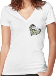 Beautiful blossoms Women's Fitted V-Neck T-Shirt