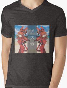 E V Λ W Λ V Ǝ   A S U K A Mens V-Neck T-Shirt