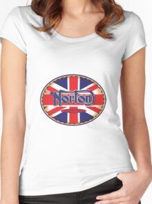 Norton Vintage Motorcycle UK Women's Fitted Scoop T-Shirt