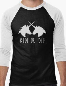 Ride or Die Unicorn Magic Men's Baseball ¾ T-Shirt