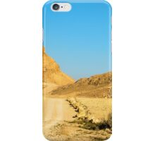 Dirt track through the  The Ramon Crater, Israel iPhone Case/Skin