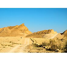 Dirt track through the  The Ramon Crater, Israel Photographic Print