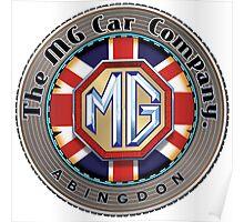 MG Car Company Abingdon England Poster