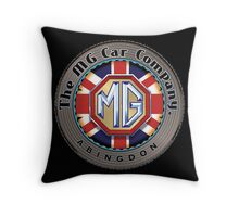 MG Car Company Abingdon England Throw Pillow