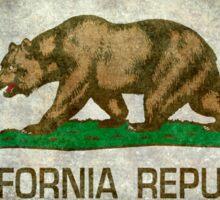 California Republic state flag - Vintage retro version Sticker