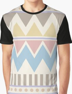 Pastel Geometric Pattren Graphic T-Shirt