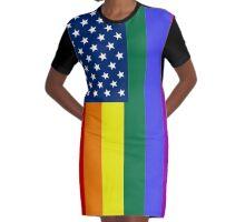 LGBT-USA Graphic T-Shirt Dress
