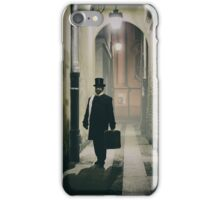 Victorian man with top hat  iPhone Case/Skin