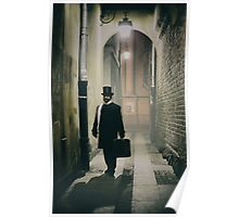 Victorian man with top hat  Poster